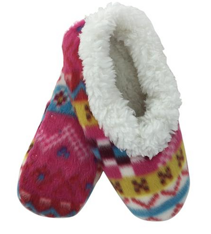 Fleece Footies in Fun Fairisle - Lily Wings