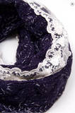 Lace Infinity Scarf - Lily Wings - 2