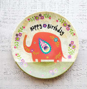 Happy Birthday Mini Melamine Plate - Lily Wings - 1