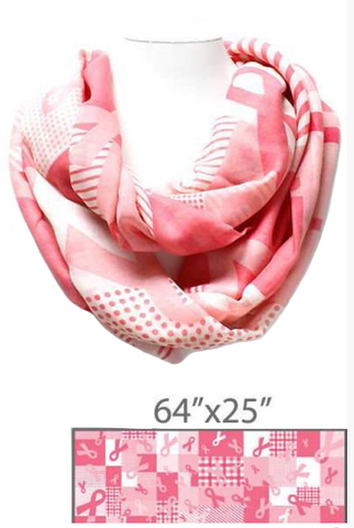 Pink Ribbon Scarf