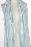 Mint Stripe scarf with fringe - Lily Wings - 2