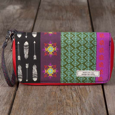 Small Acts Vagabond Gypsy Zip Wallet - Lily Wings