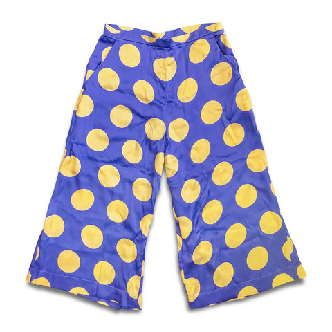 Polka Dot Silk Pants