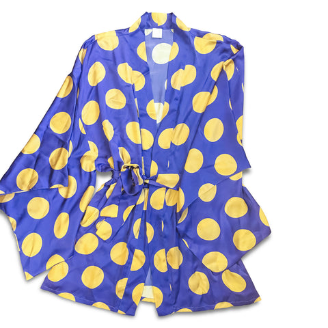 Polka Dot Silk Robe