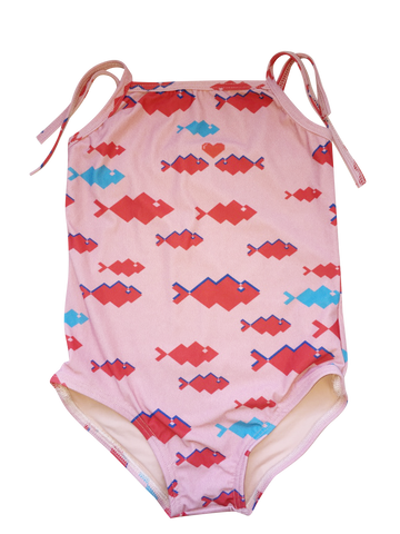 Pink Fish Baby Swimsuit