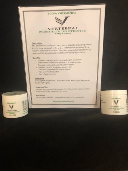 Vertebral Prosthetic Protective Body Cream