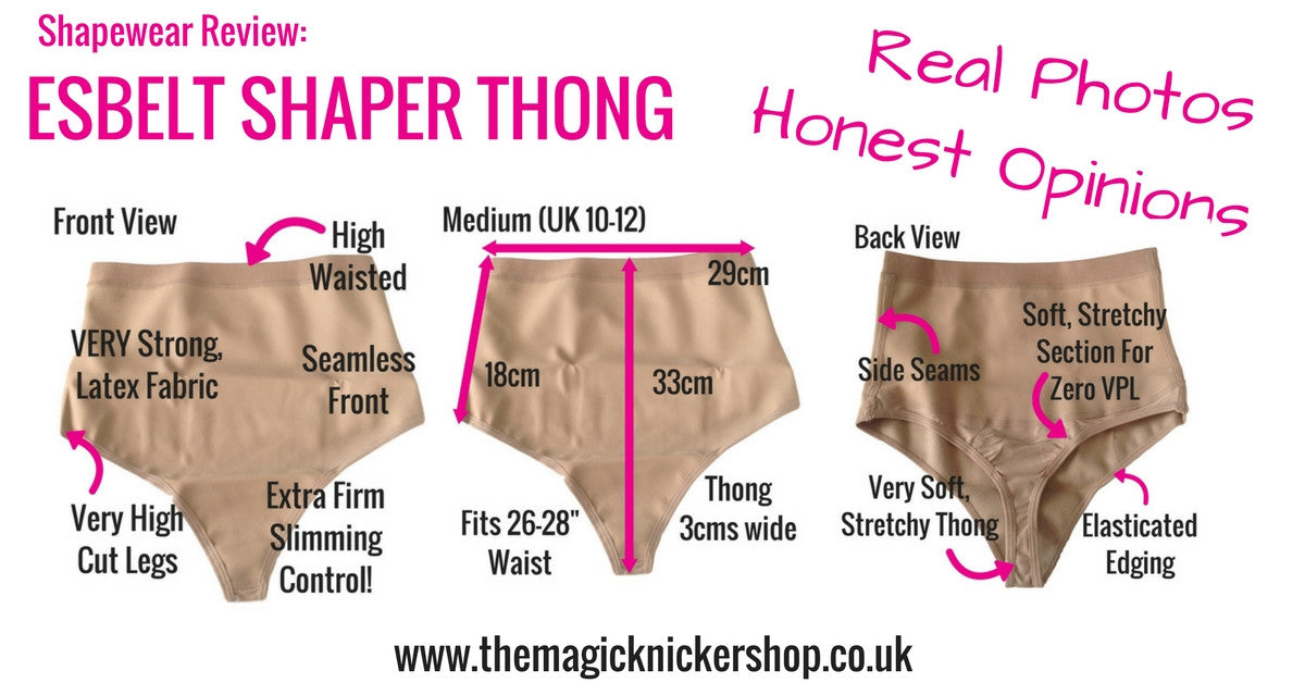 esbelt shaper thong shapewear review