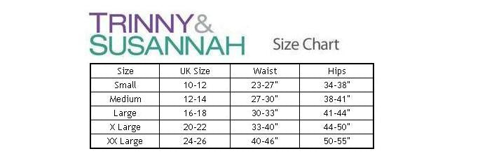 Trinny and Susannah Bum Tum & Thigh Reducer Size Chart