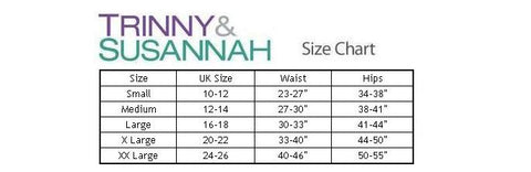 Trinny and Susannah Shapewear Size Chart