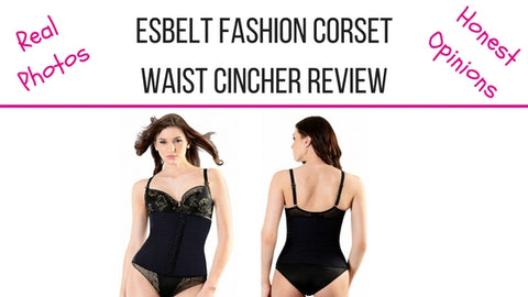 Esbelt Waist Cincher Fashion Corset In Black ES449 Shapewear Review - See What It Looks Like Before You Buy
