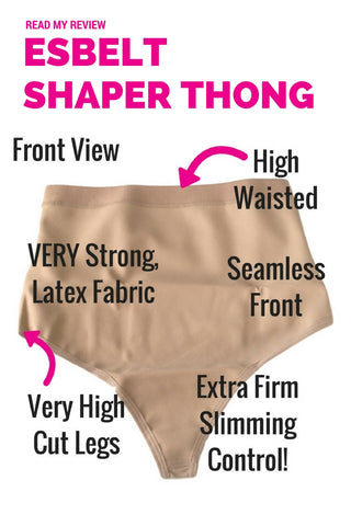 Esbelt High Compression Shaper Thong ES262 - Shapewear Review