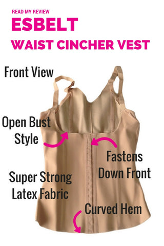 Esbelt Waist Cincher Slimming Vest ES431 - Maximum Control Slimming Corset Top - Shapewear Review