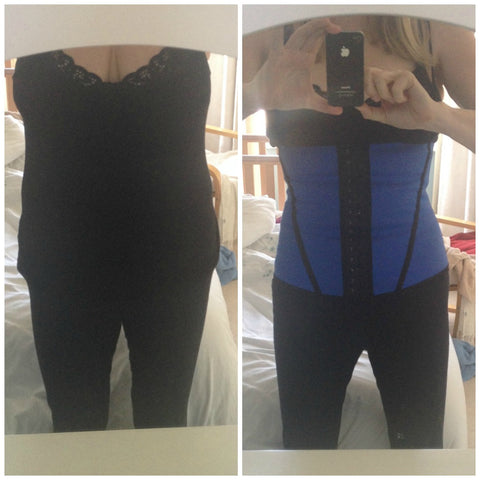 Before and After Esbelt Waist Training Corset ES062