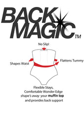 Miraclesuit Shapewear Back Magic - Stops Your Waist Shaper From Rolling Up Or Down