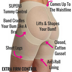 Miraclesuit Sexy Sheer Rear Lifting Bum Booster Pants