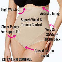 Miraclesuit Shapewear High Waisted Control Thong