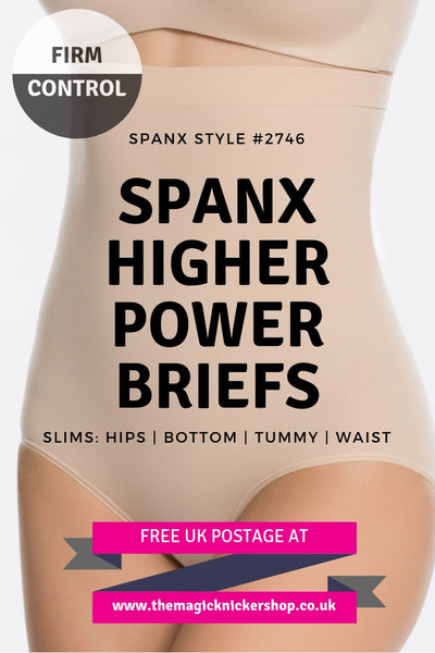 Spanx Higher Power Briefs Shapewear Firm Control Free UK Postage