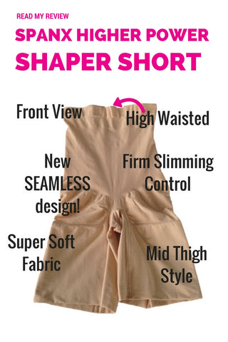 Spanx Higher Power High Waisted Shaper Shorts 2745 Shapewear Review