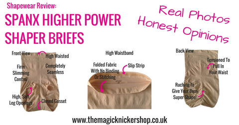 Spanx Higher Power High Waisted Shaper Briefs Shapewear Review