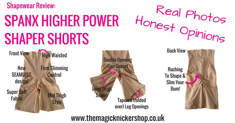 Spanx Higher Power High Waisted Shaper Shorts Shapewear Review