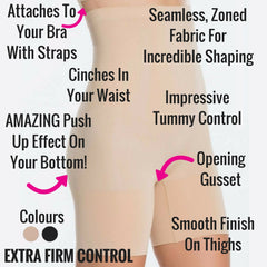 a76bc2875a5fd ... Spanx Oncore Build Your Own Bodysuit Mid Thigh Shaper Shorts Extra Firm  Control Bodysuit ...