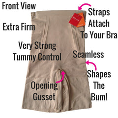 Spanx OnCore Build Your Own Bodysuit Mid Thigh Shaper Shorts Front View