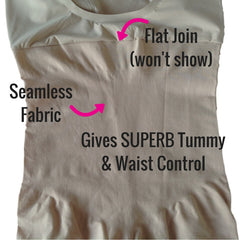 Spanx Shape My Day Open Bust Mid Thigh Slimming Bodysuit Review Photo - Tummy Control