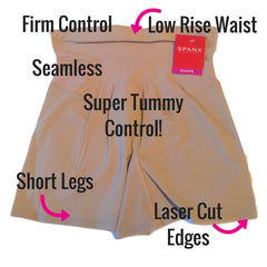 Spanx Shape My Day Slimming Girl Shorts Front View