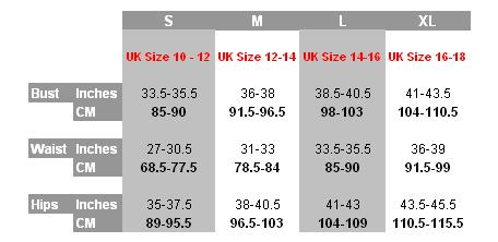Spanx Size Chart - For Spanx OnCore, Spanx Shape My Day, Spanx Hide and Sleek, Spanx Slim Cognito and Spanx Slimplicity
