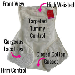 Spanx Spotlight on Lace High Waist Firm Control Briefs Shapewear Review Front