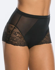 Spanx Spotlight On Lace Firm Control Briefs Black Shapewear