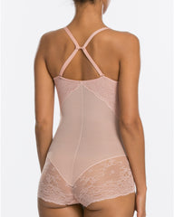 9ee788ce43 ... spanx spotlight on lace shaping bodysuit back vintage rose - wedding  shapewear
