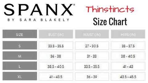 Spanx Thinstincts Open Bust Mid Thigh Shaping Bodysuit 10021R Size Chart