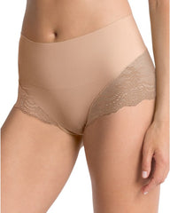 Spanx Undietectable Pretty Lace Hi Hipster Panties - Medium Control