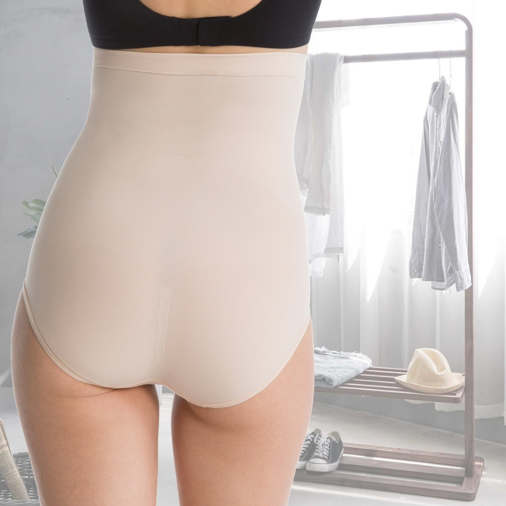 spanx higher power briefs nude back view