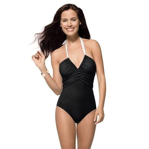 Spanx Convertible Slimming Swimsuit In Black