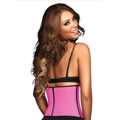 Ann Chery Sports Workout Waist Cincher In Pink Back View