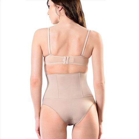 Esbelt Elegant High Waist Boned Girdle In Natural Back View