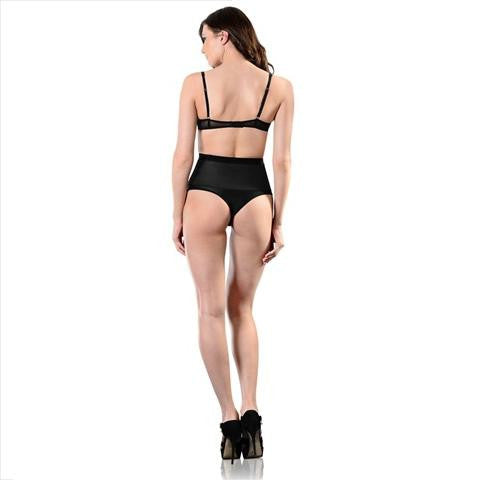 Esbelt High Compression Shaper Thong Black Full Length View