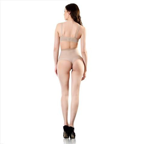 Esbelt High Compression Shaper Thong Natural Full Length View