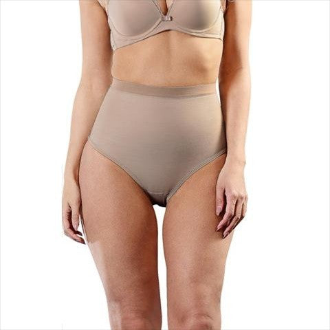 Esbelt High Compression Shaper Thong Natural Front View