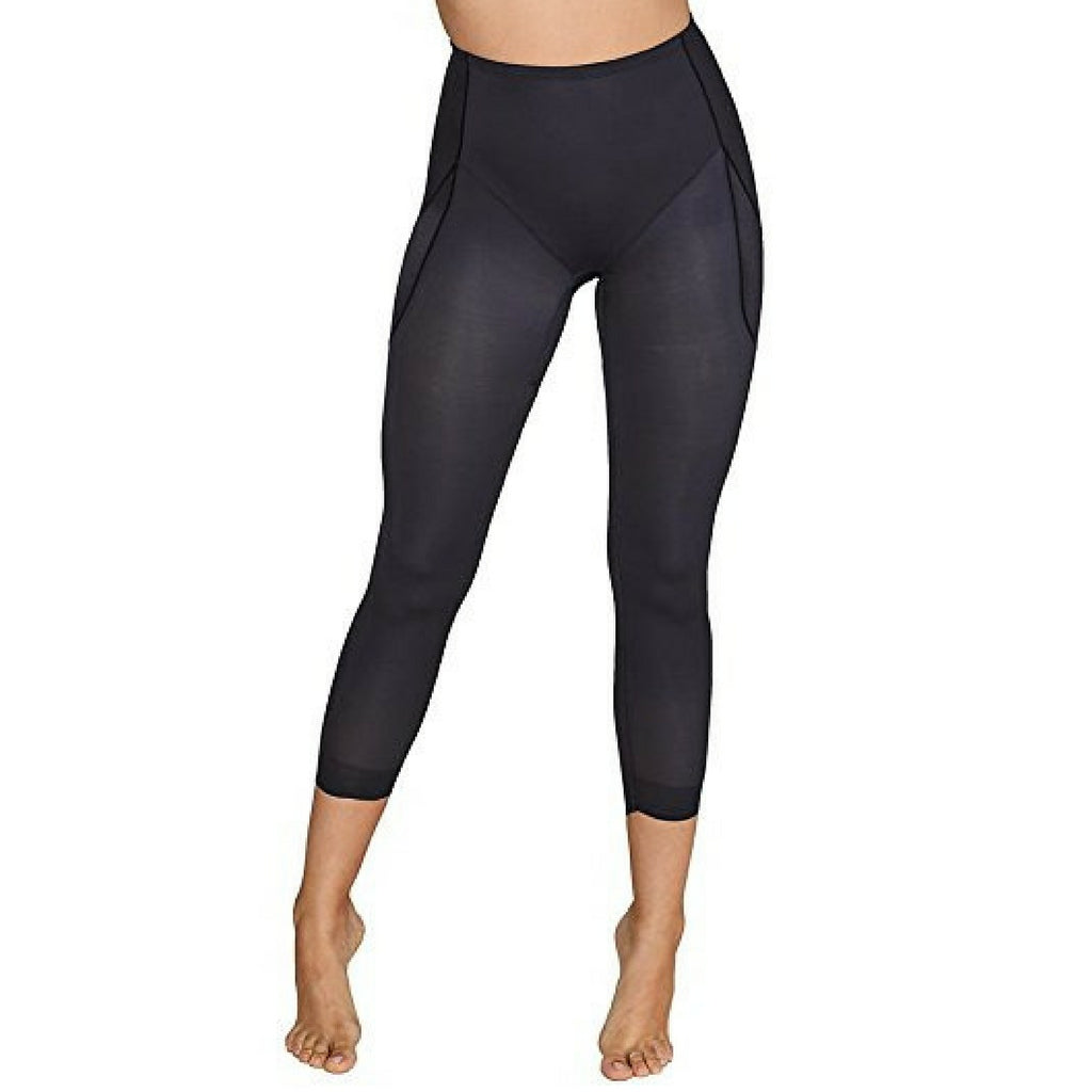 Miraclesuit Rear Lift & Thigh Control Waistline Leggings 2817 Black Front View