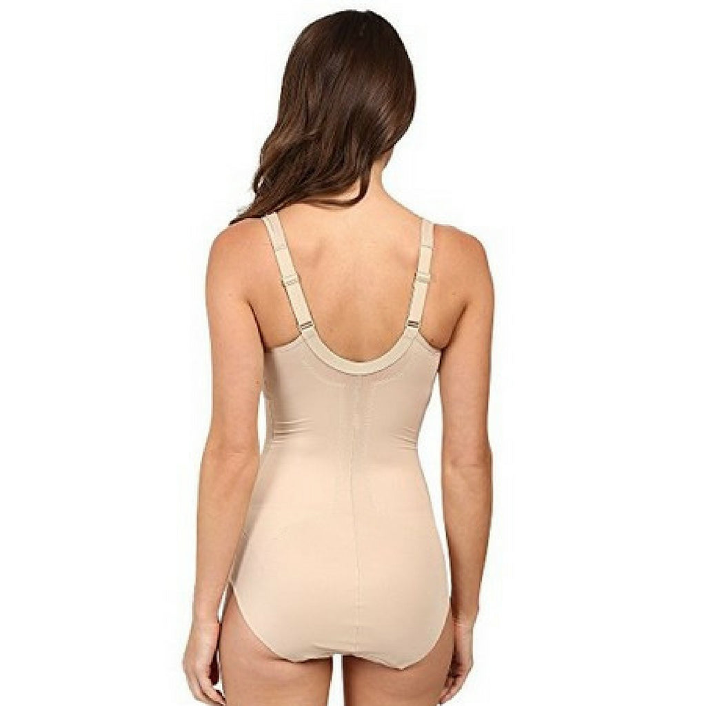 8fcebe6001 Miraclesuit Flexible Fit Wire Free Slimming Bodysuit Natural Back View.  Miraclesuit Flexible Fit Wire Free Slimming Bodysuit Natural Back View
