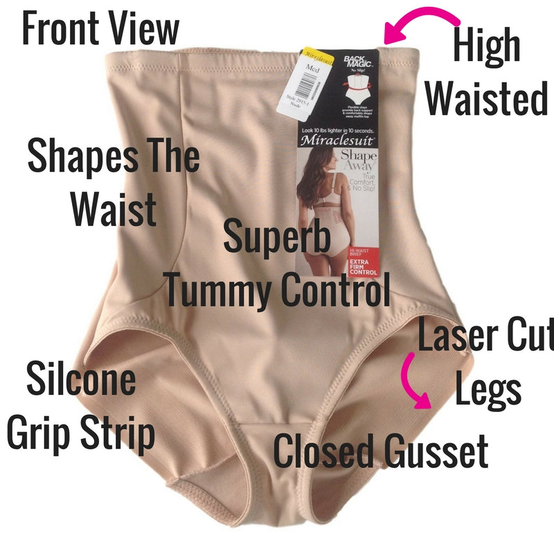 72b44b2648 miraclesuit extra firm control back magic control pants shapewear review  front view