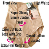 miraclesuit extra firm control briefs 2705 shapewear review front