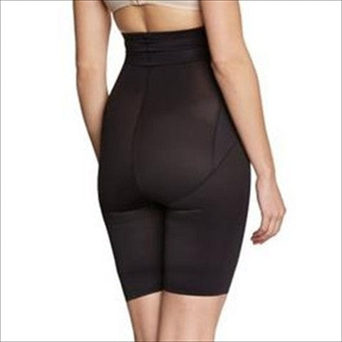 ed25b3b2834c0 Miraclesuit Inches Off High Waist Thigh Trimmer Black Back View. Miraclesuit  Inches Off High Waist Thigh Trimmer Black Back View