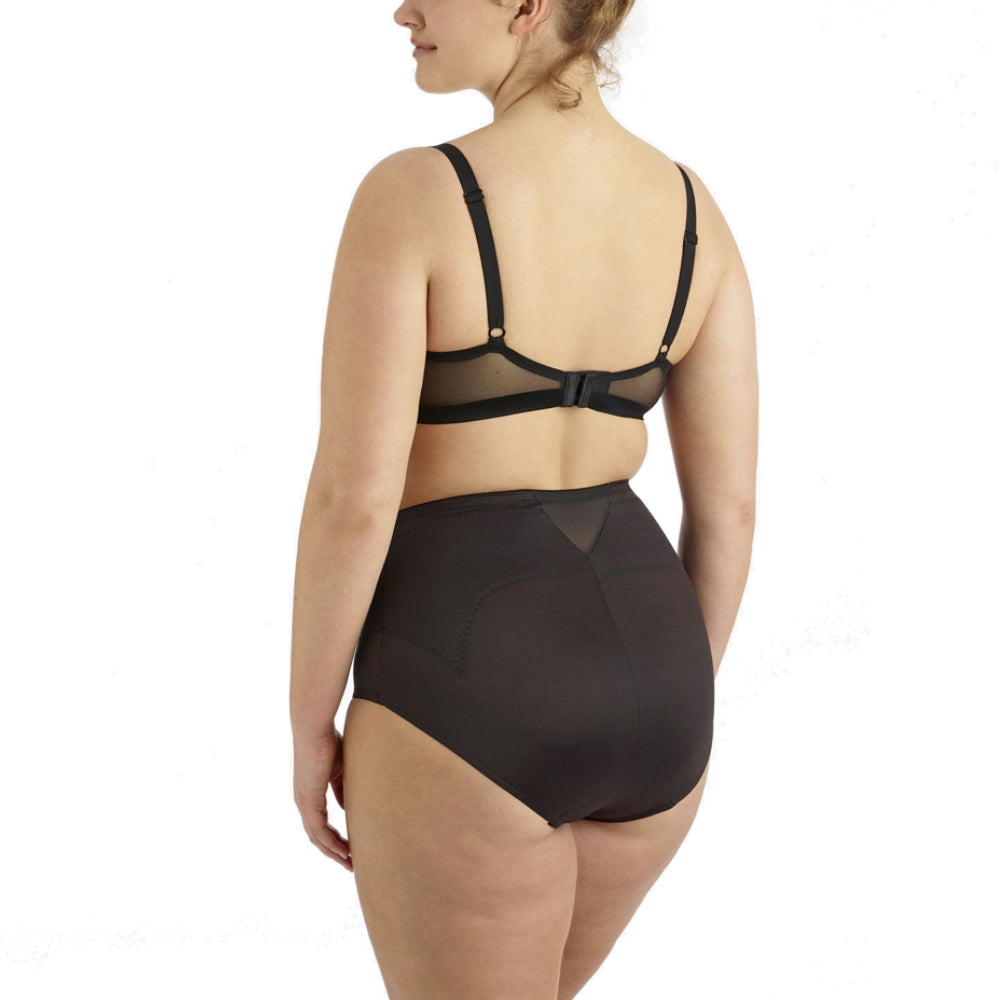 Miraclesuit Flexible Fit Plus Size Control Briefs 2934 Black Back