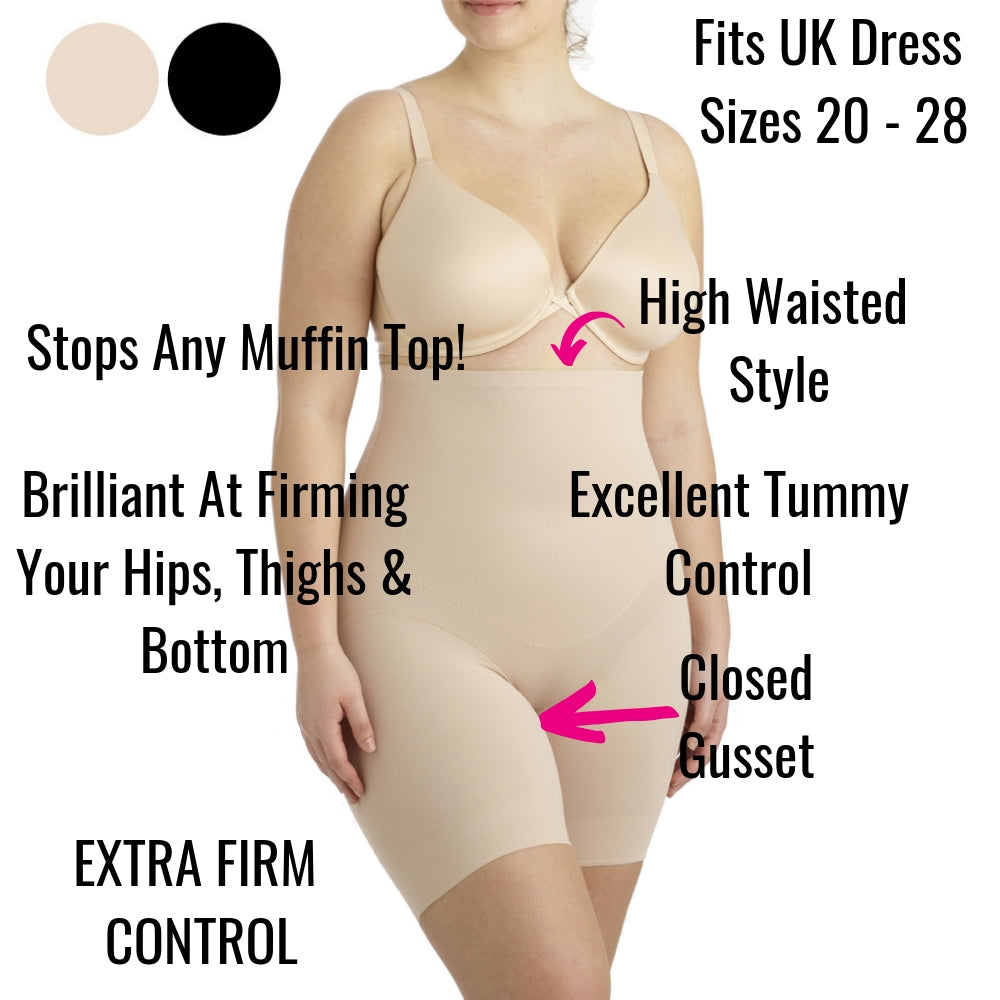 Miraclesuit Flexible Fit Plus Size High Waist Thigh Slimmer 2939