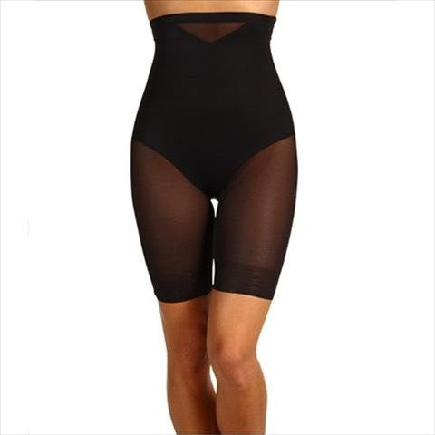 Miraclesuit Sexy Sheer Shaping High Waist Thigh Slimmer In Black
