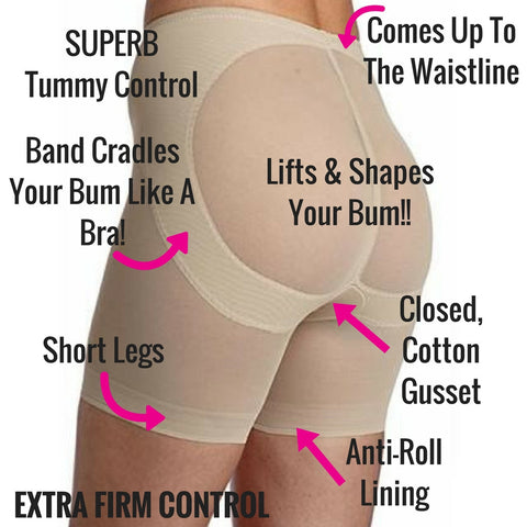miraclesuit shapewear bum booster shorts